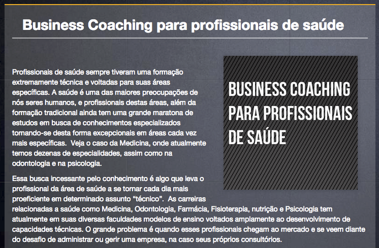 Artigo business coaching